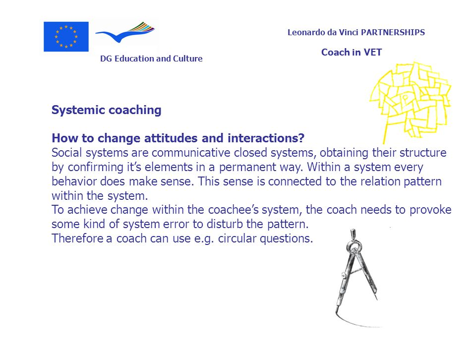 Systemic coaching How to change attitudes and interactions