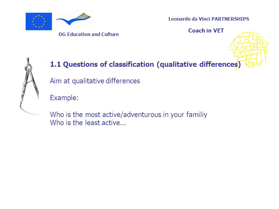 1.1 Questions of classification (qualitative differences)