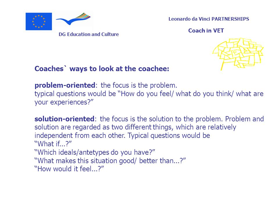 Coaches` ways to look at the coachee: