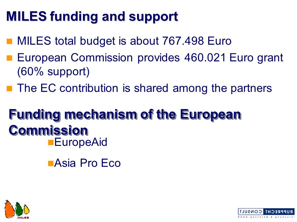 MILES funding and support
