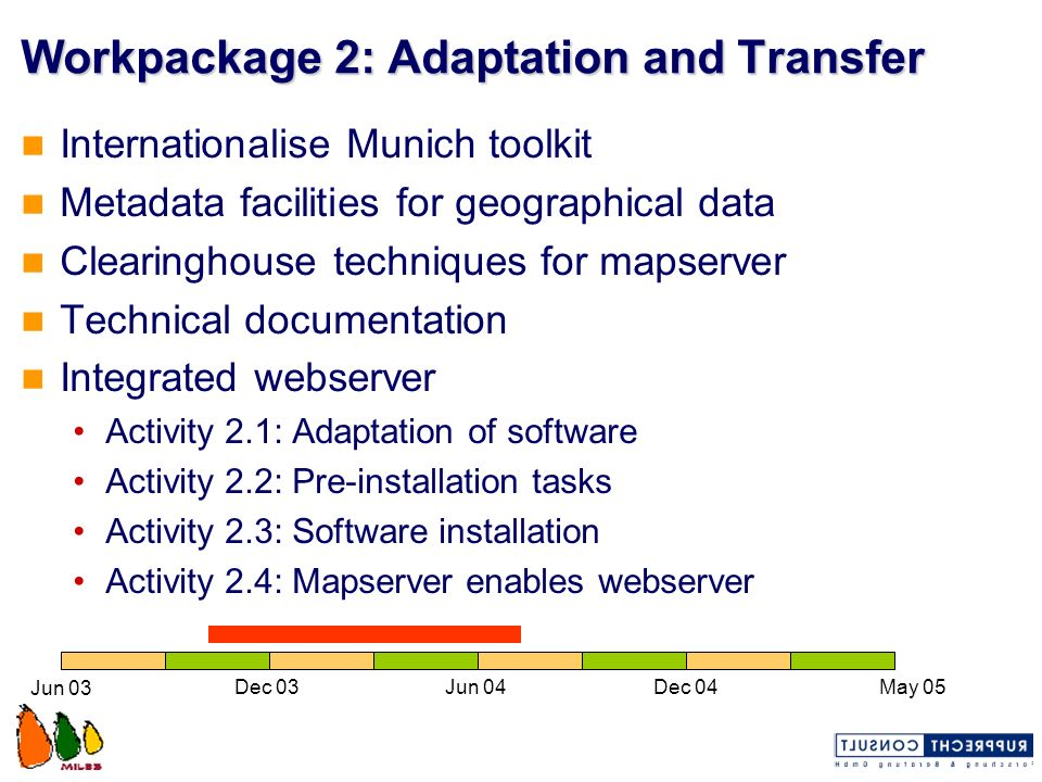 Workpackage 2: Adaptation and Transfer