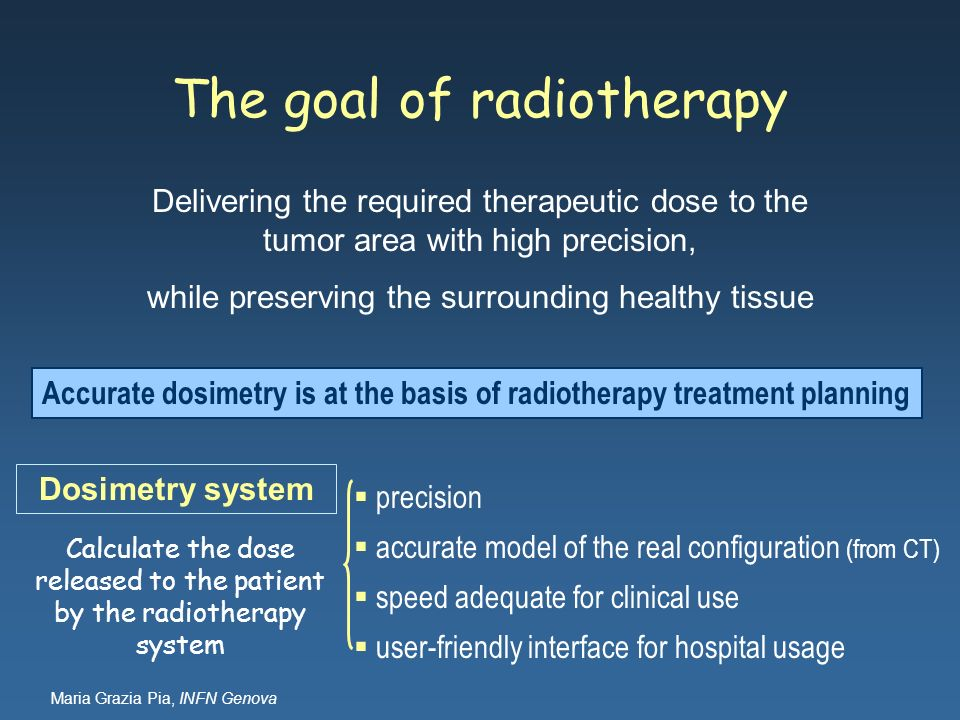 The goal of radiotherapy