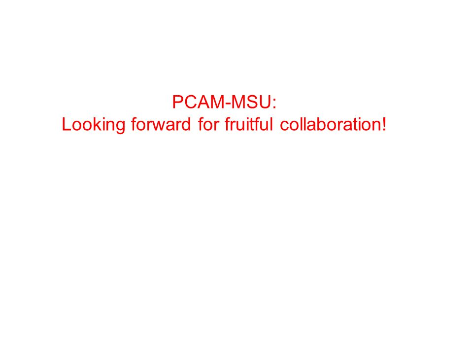 Looking forward for fruitful collaboration!