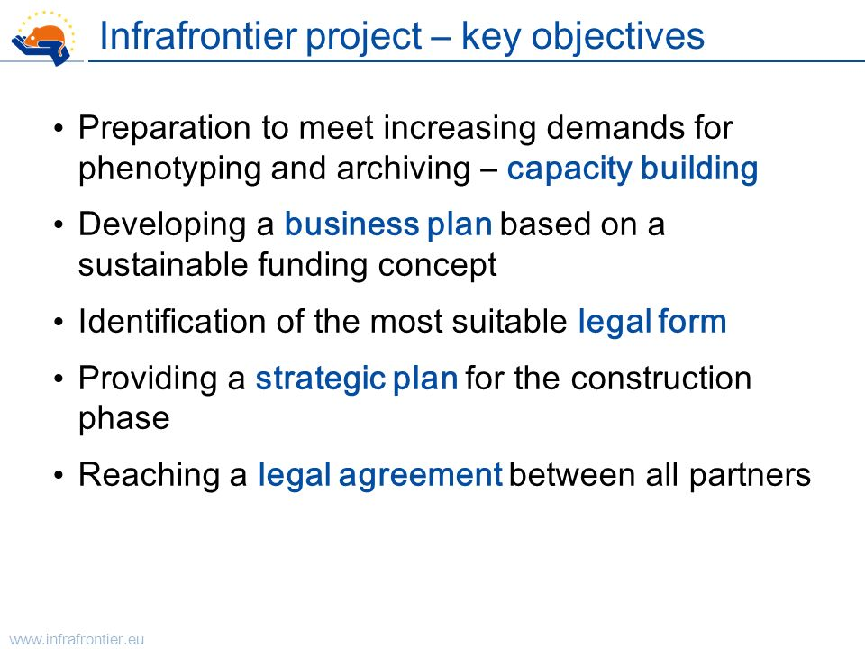 Infrafrontier project – key objectives