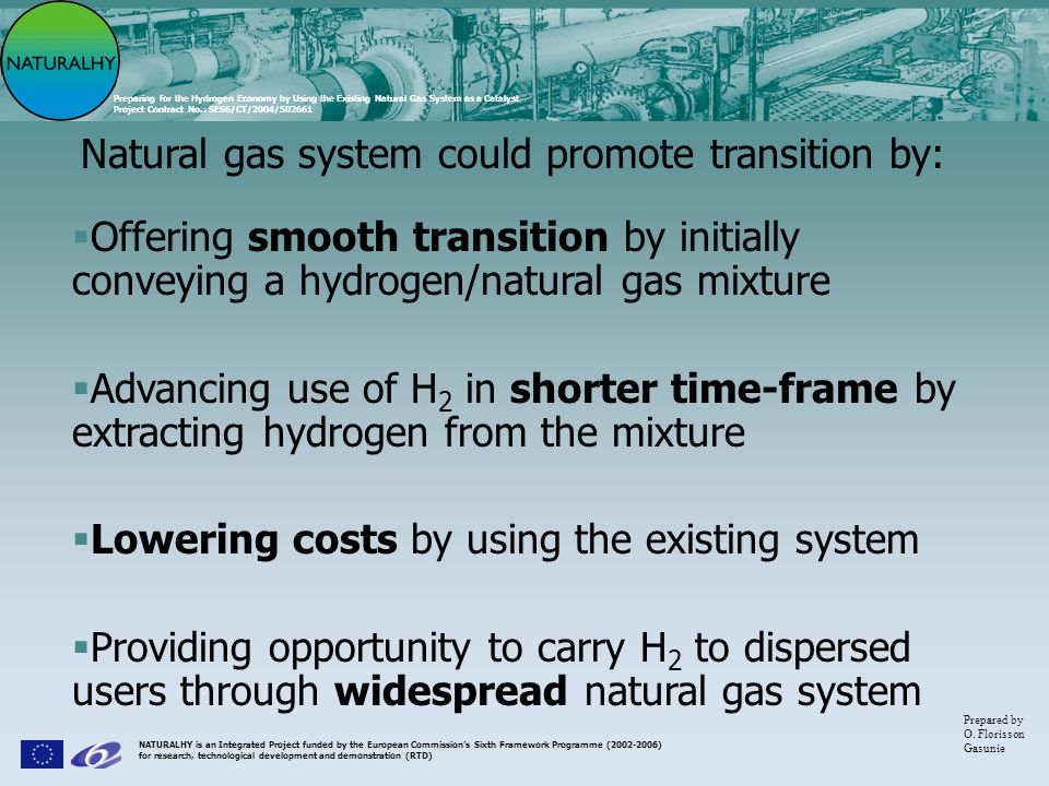 Natural gas system could promote transition by: