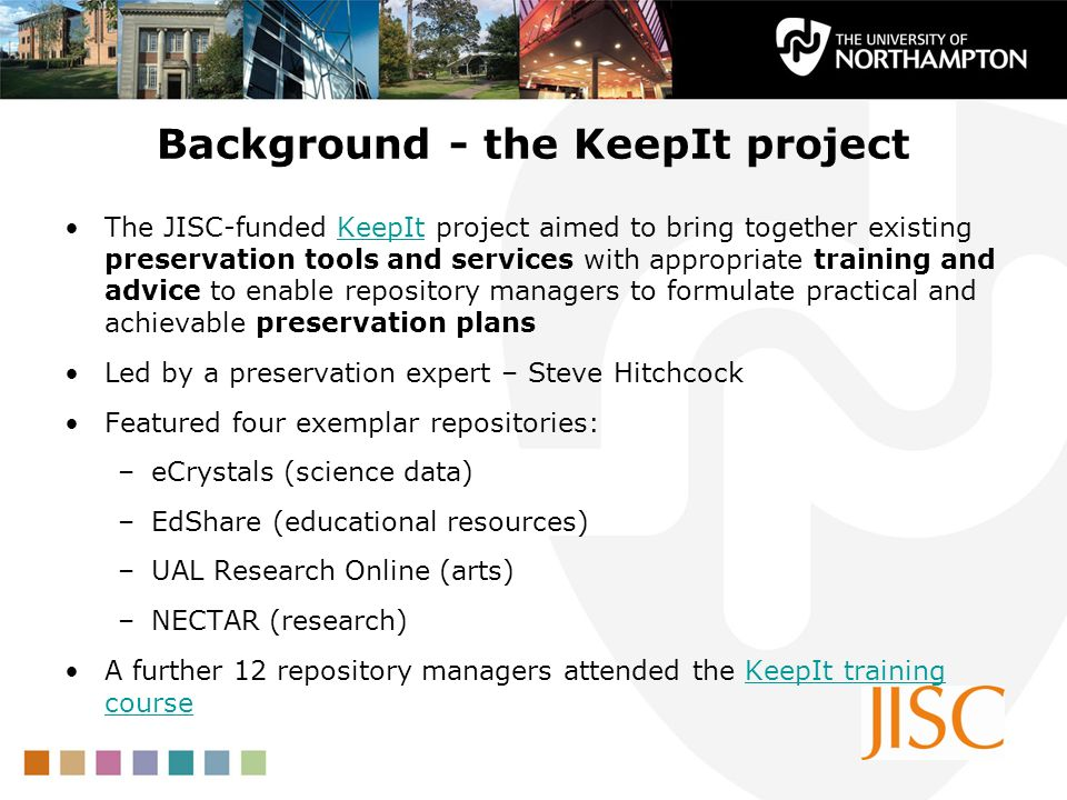 Background - the KeepIt project
