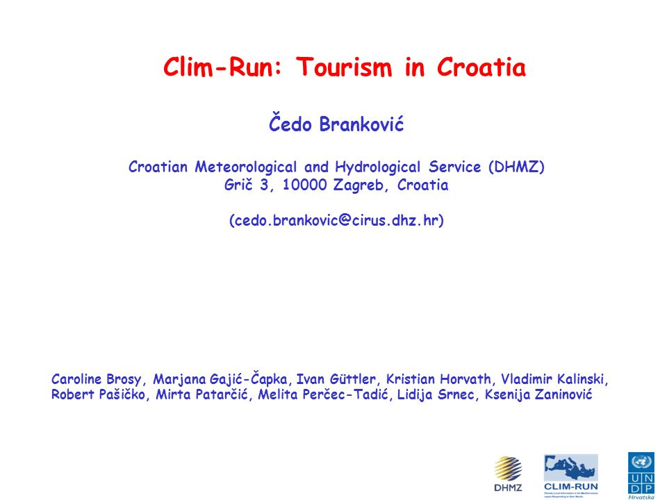 Clim-Run: Tourism in Croatia
