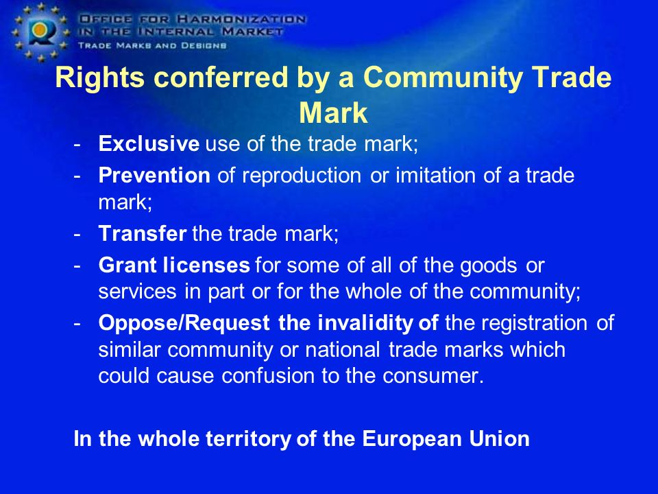 Rights conferred by a Community Trade Mark