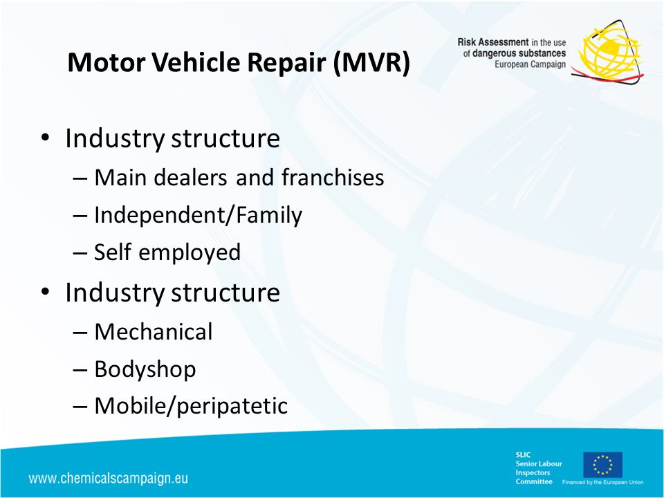 Motor Vehicle Repair (MVR)