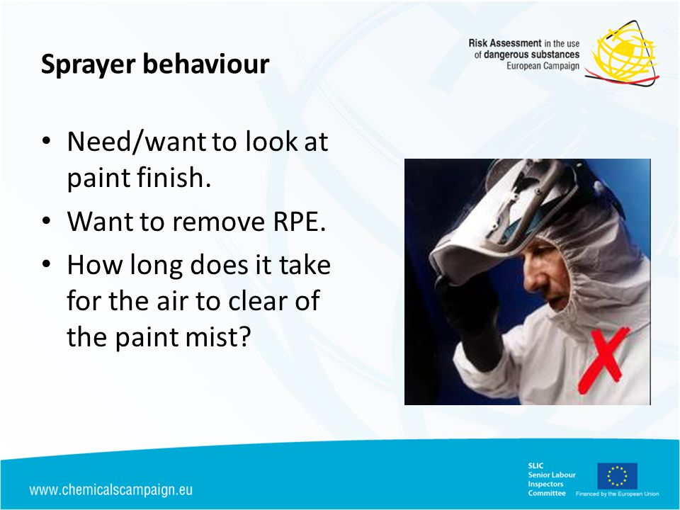 Sprayer behaviour Need/want to look at paint finish.