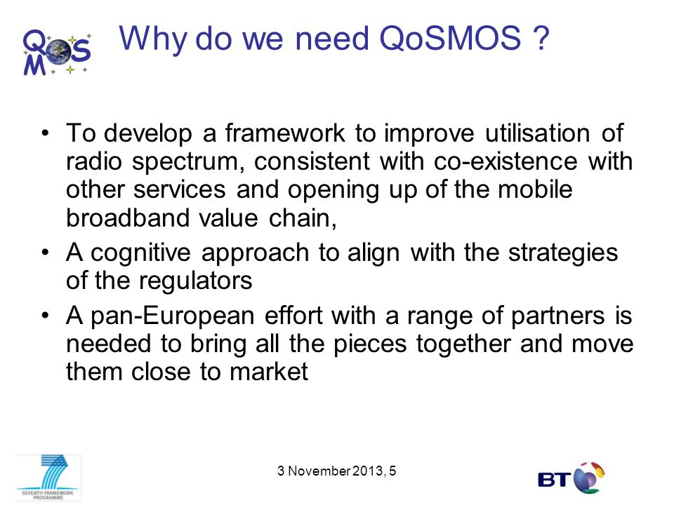 Why do we need QoSMOS