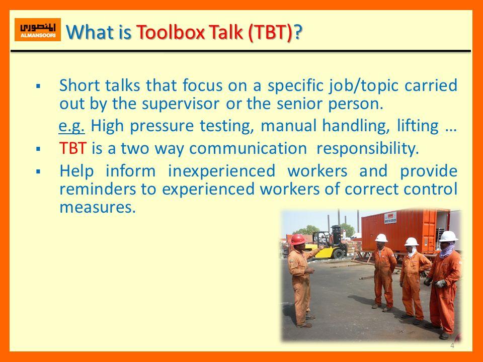 Toolbox talk presentation