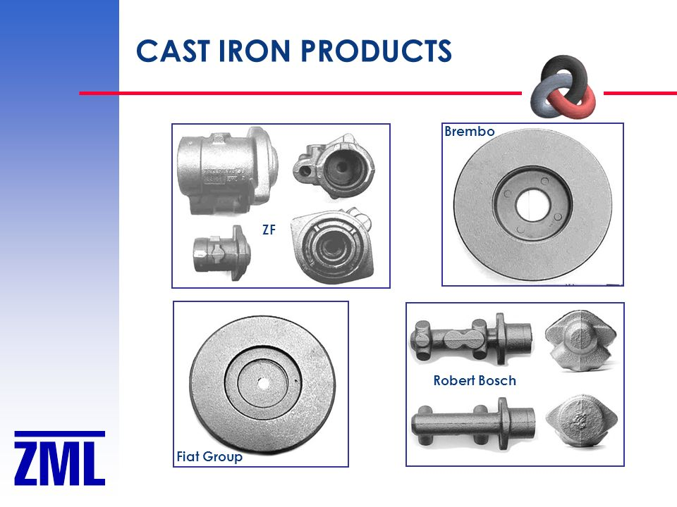 CAST IRON PRODUCTS Robert Bosch Fiat Group Brembo ZF