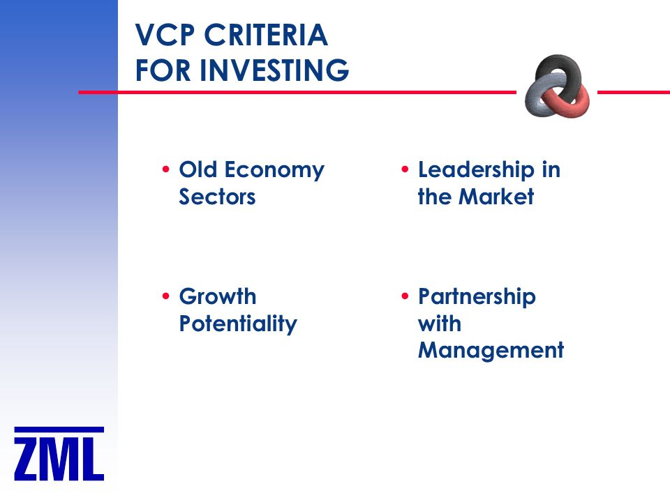 VCP CRITERIA FOR INVESTING Old Economy Sectors