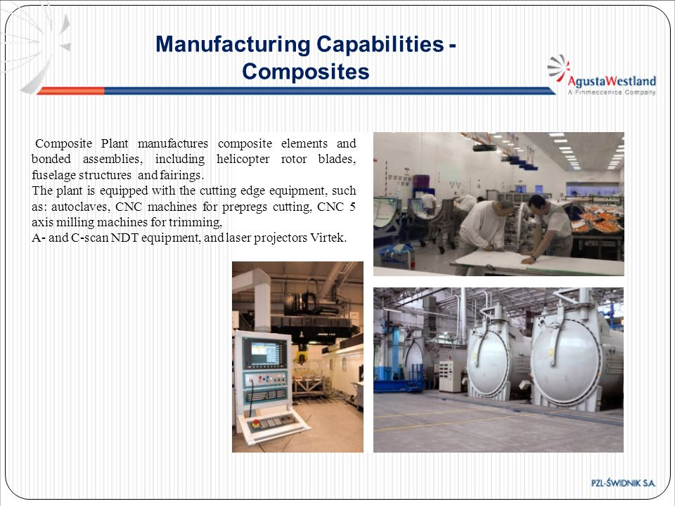 Manufacturing Capabilities - Composites