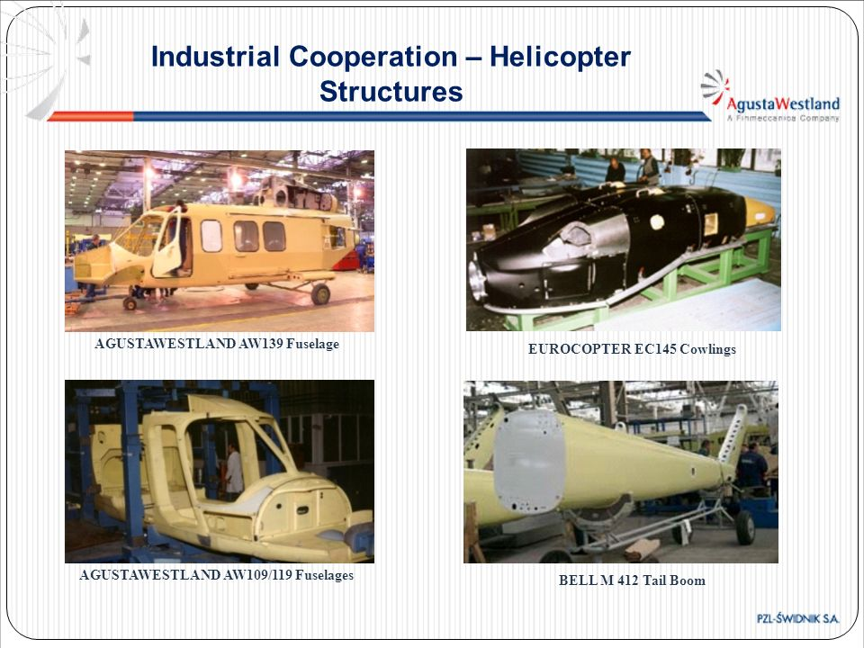 Industrial Cooperation – Helicopter Structures