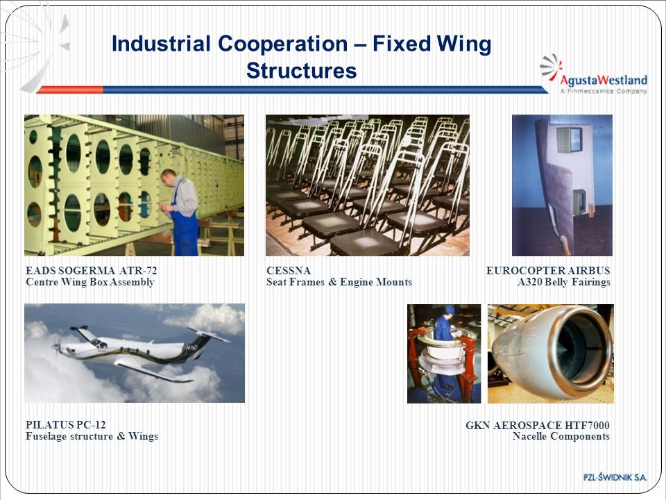 Industrial Cooperation – Fixed Wing Structures