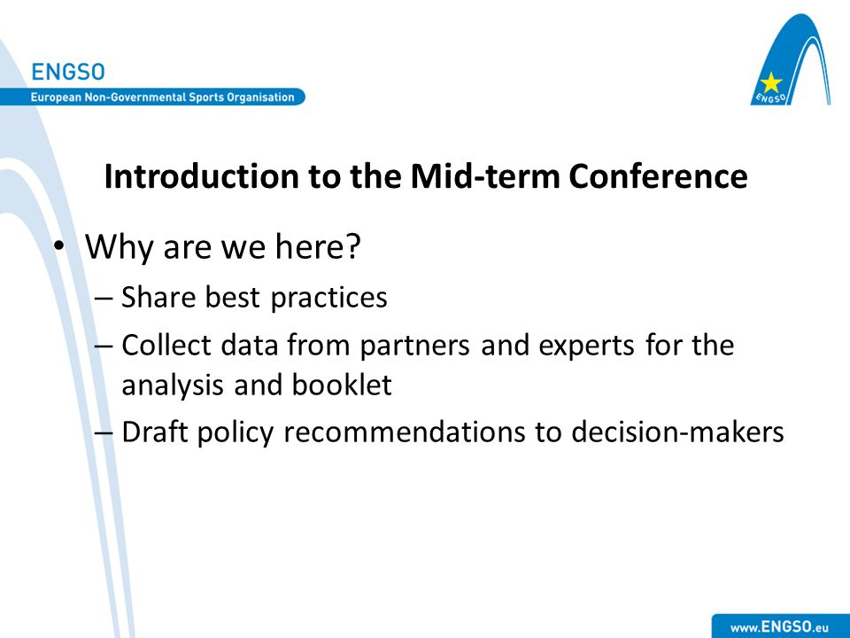 Introduction to the Mid-term Conference