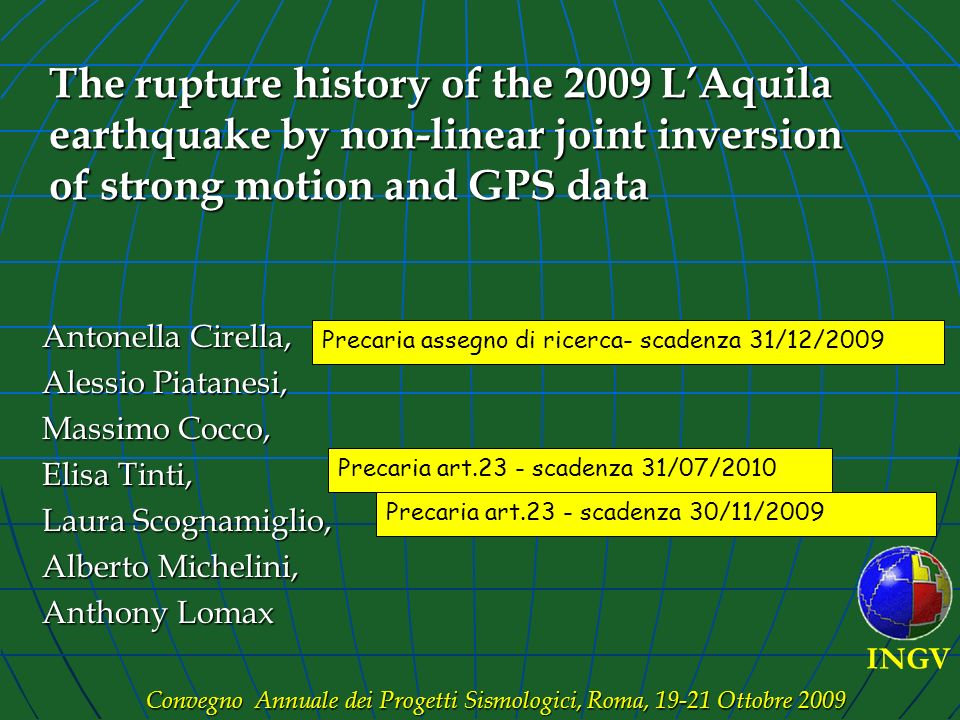The rupture history of the 2009 L'Aquila