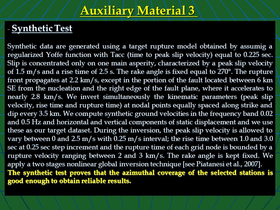Auxiliary Material 3 - Synthetic Test