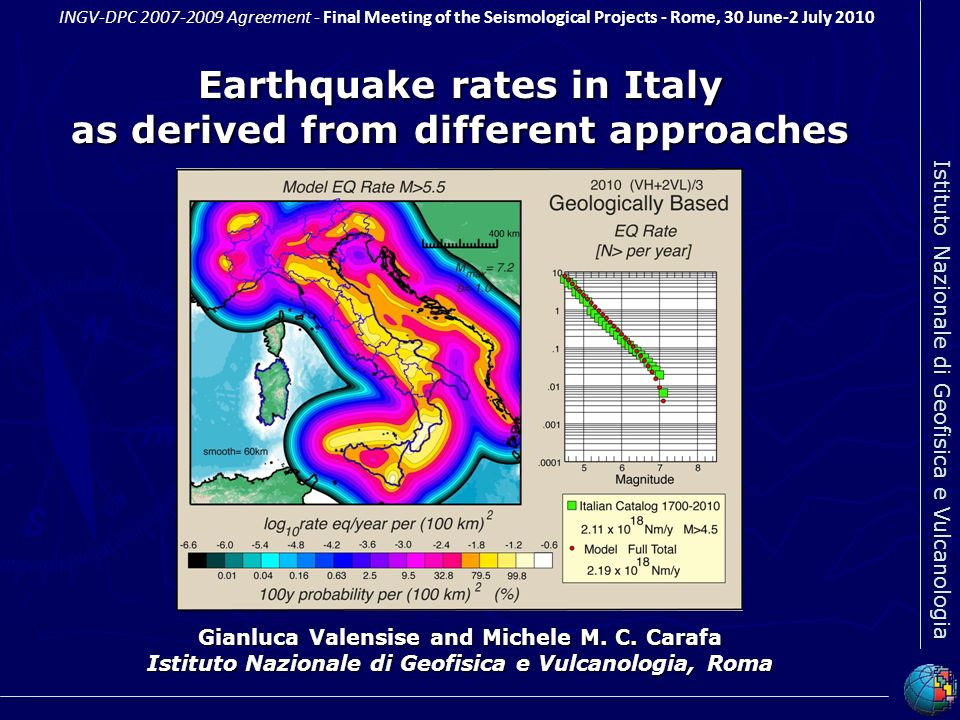 Earthquake rates in Italy as derived from different approaches