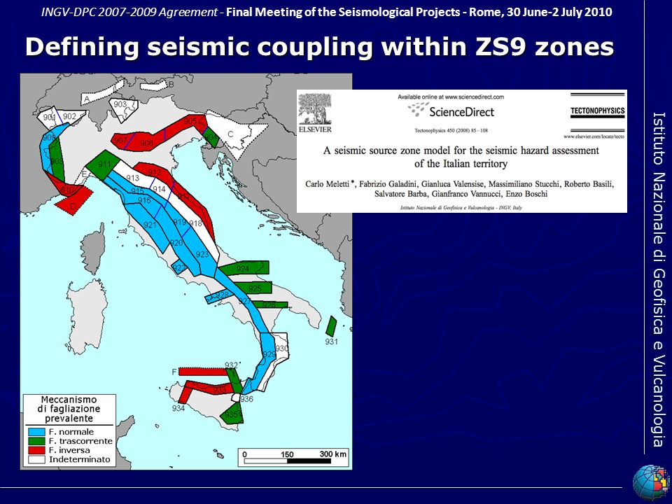 Defining seismic coupling within ZS9 zones