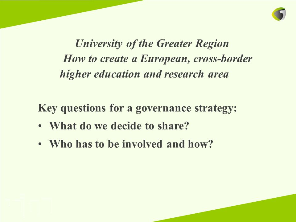Key questions for a governance strategy: What do we decide to share
