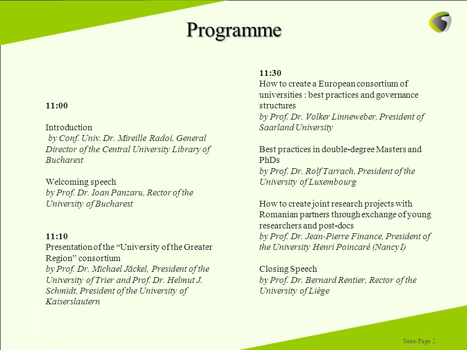 Programme 11:00. Introduction. by Conf. Univ. Dr. Mireille Radoi, General Director of the Central University Library of Bucharest.