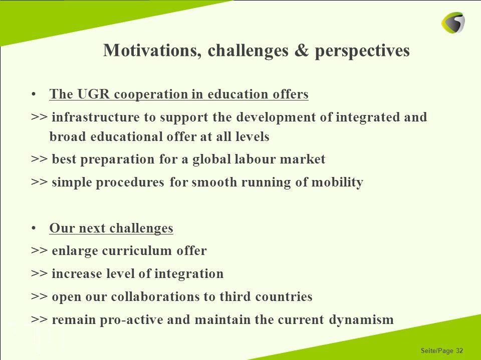 Motivations, challenges & perspectives