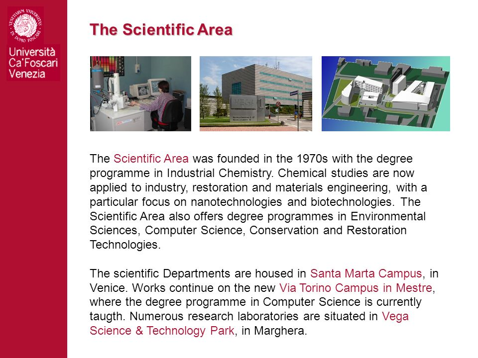 The Scientific Area