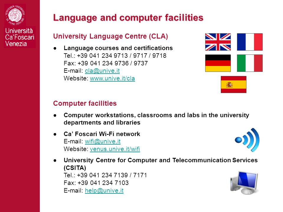 Language and computer facilities