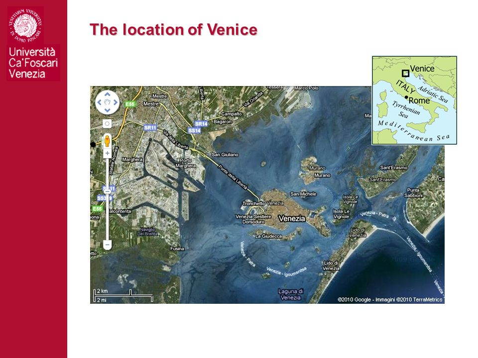 The location of Venice