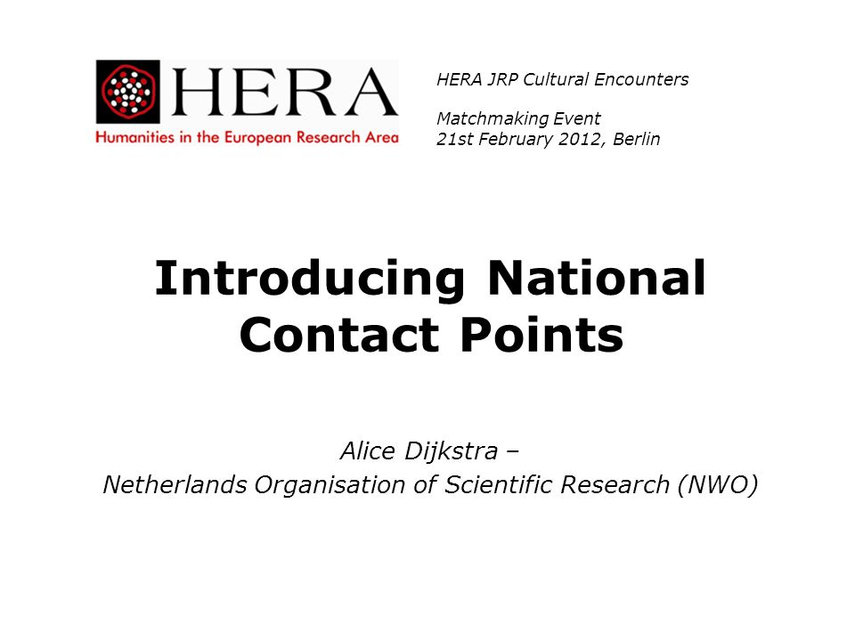 Introducing National Contact Points