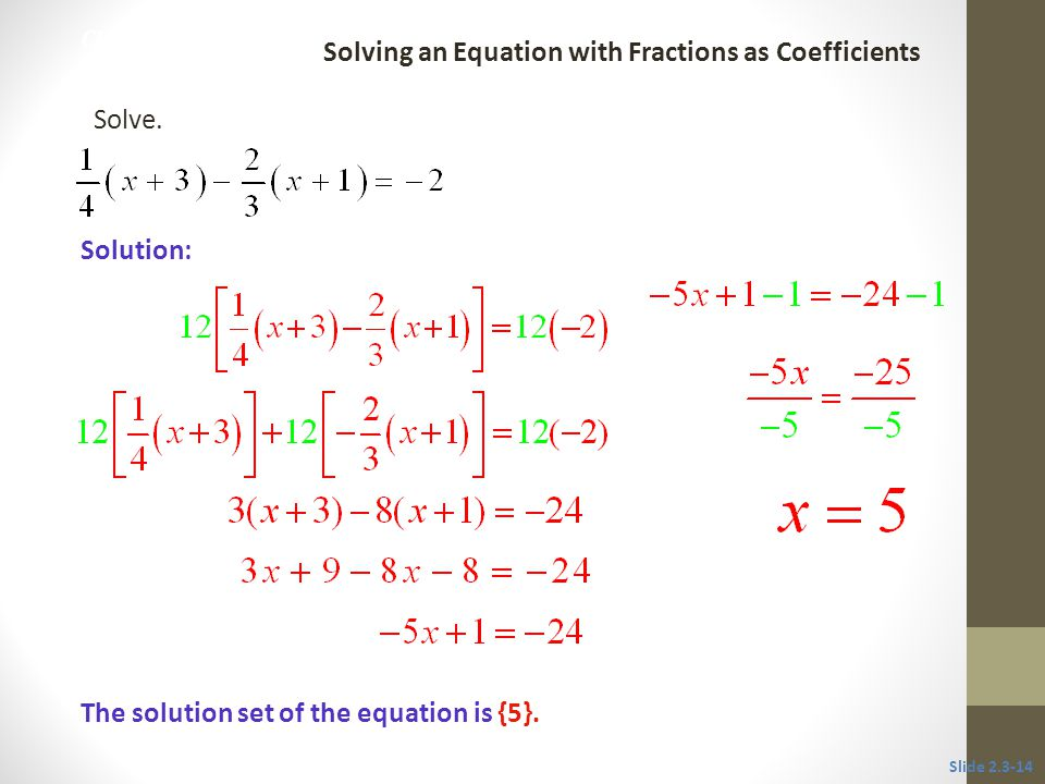 Solving an Equation with Fractions as Coefficients