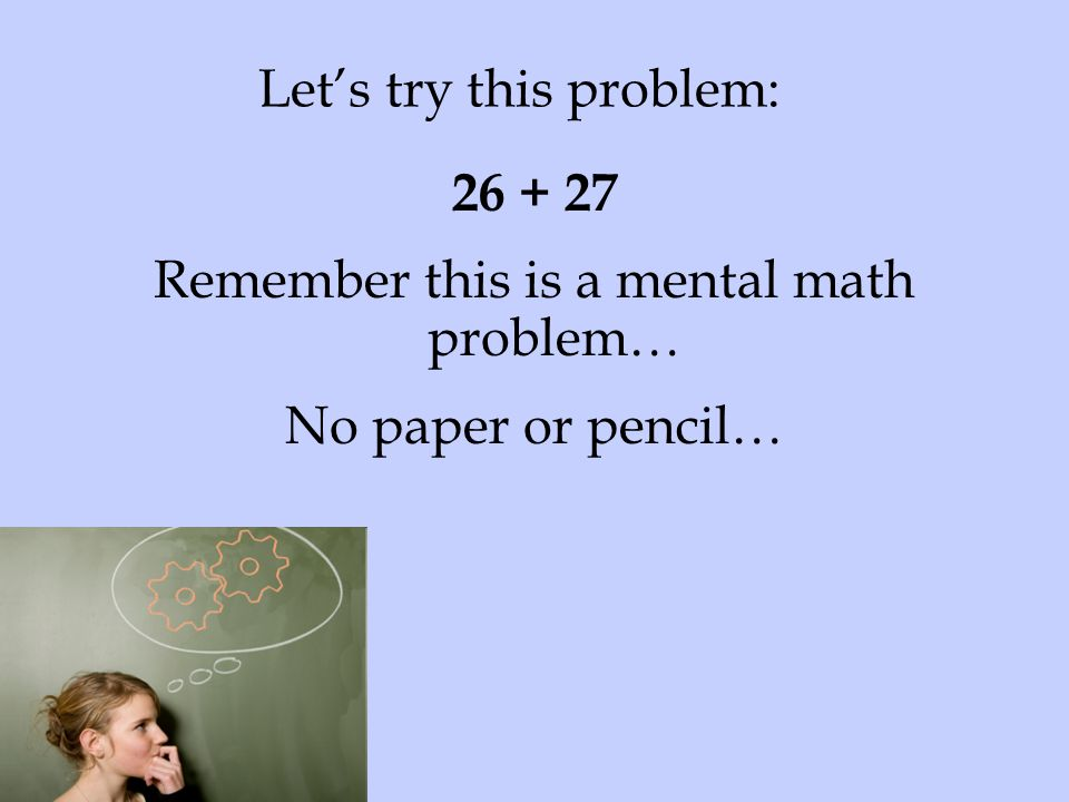 Let's try this problem: