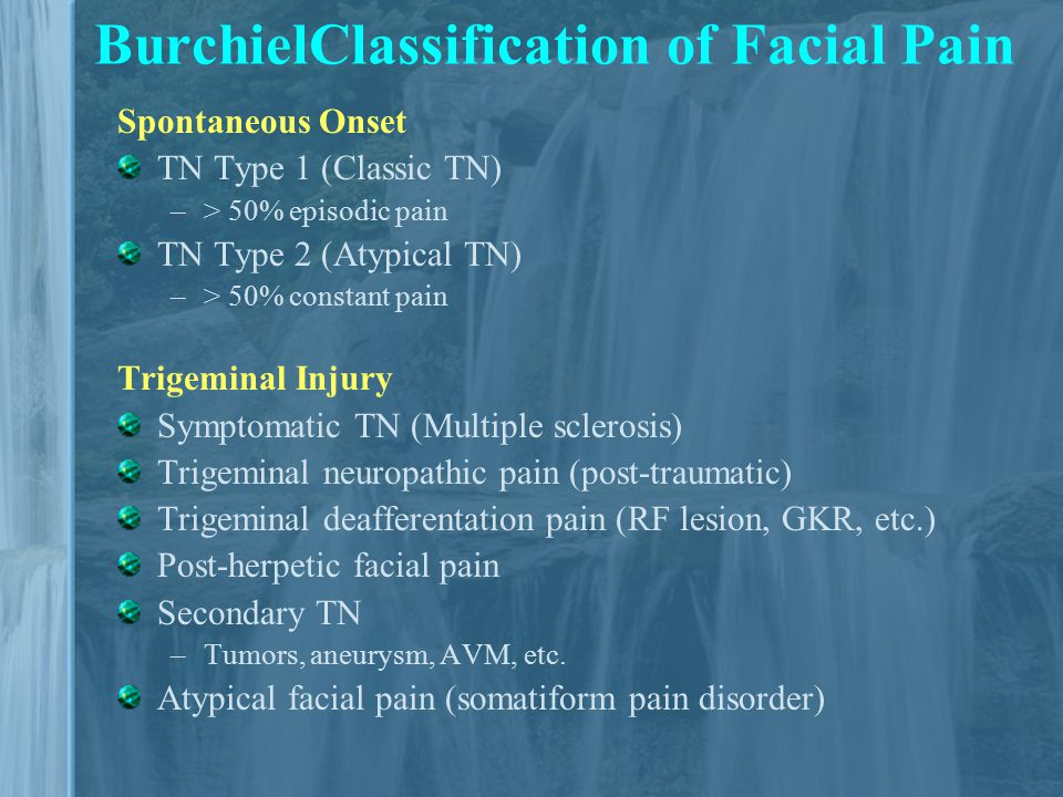 topamax pain Atypical facial