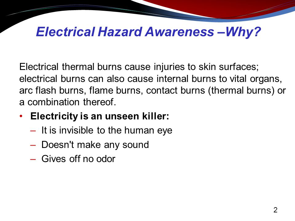 Electrical hazard awareness training for non-electrical workers.
