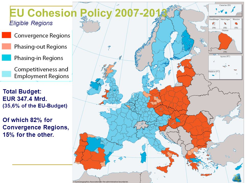 EU Cohesion Policy Eligible Regions Total Budget: