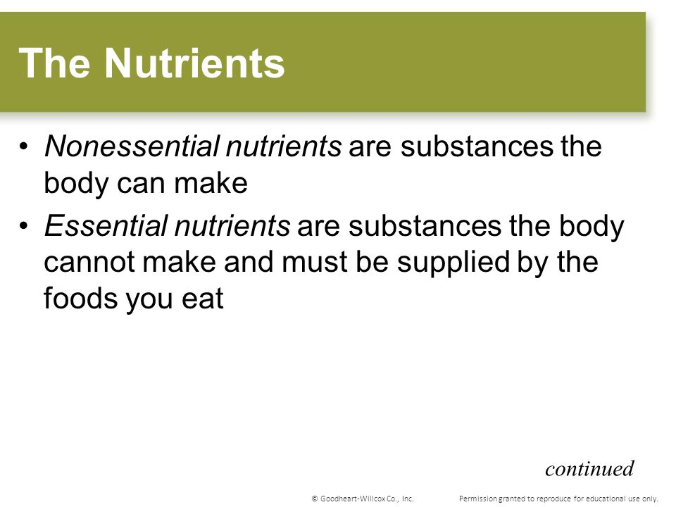 5 The Nutrients Nonessential
