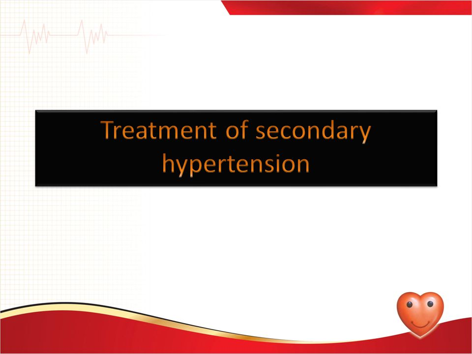 Treatment of secondary hypertension