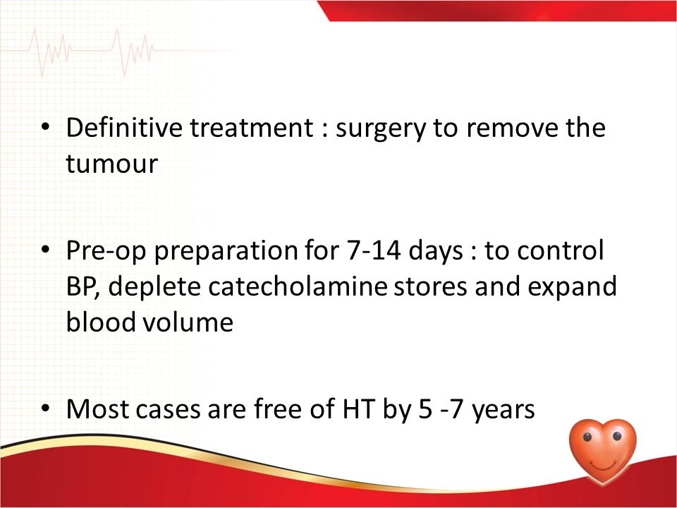 Definitive treatment : surgery to remove the tumour