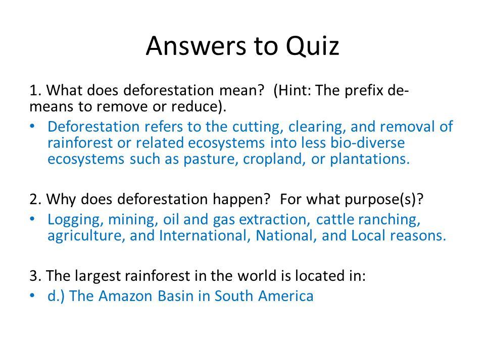 deforestation def