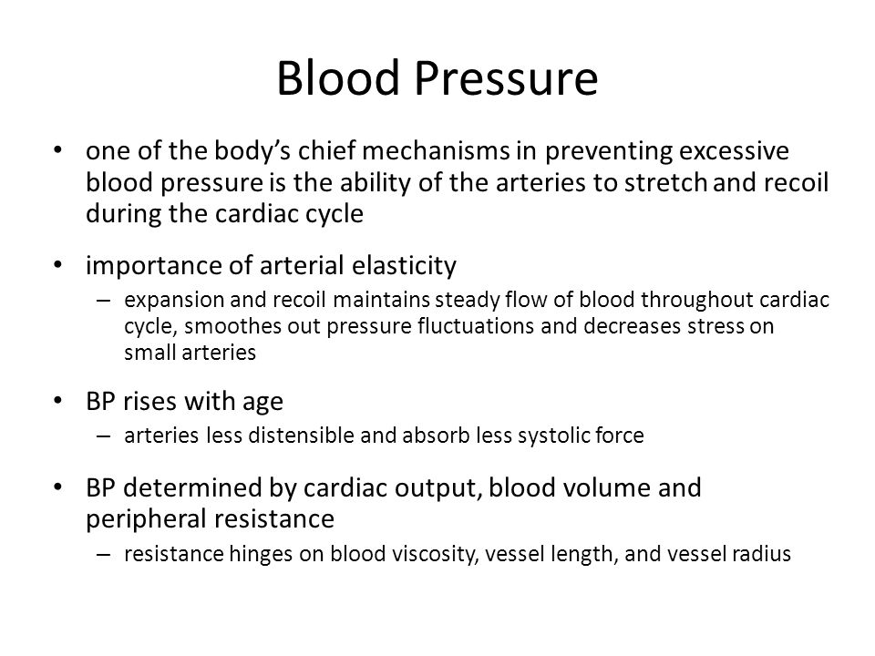 how does the body decrease the blood vessel radius