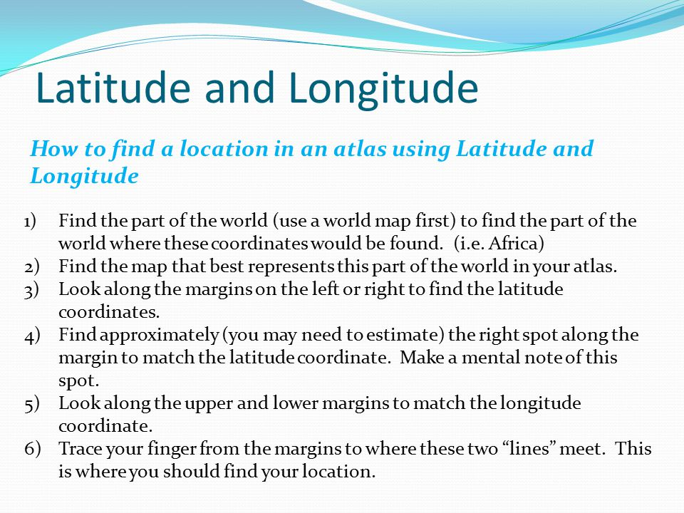 how to find latitude and longitude of a address