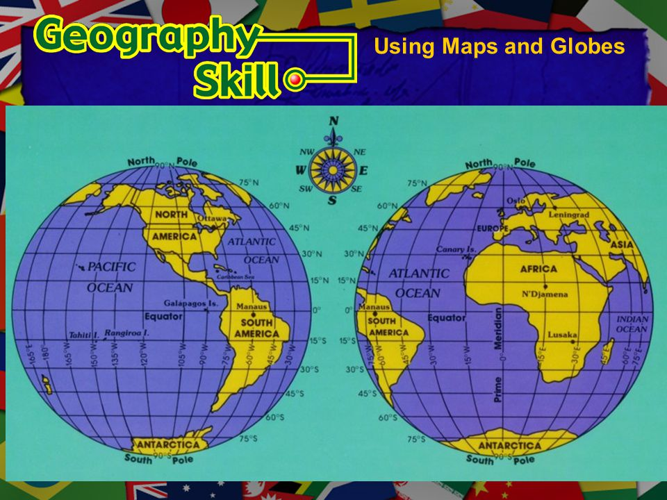 Using Maps and Globes Global grid diagram