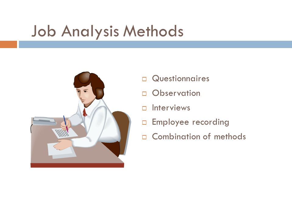 Job Analysis Methods Questionnaires Observation Interviews