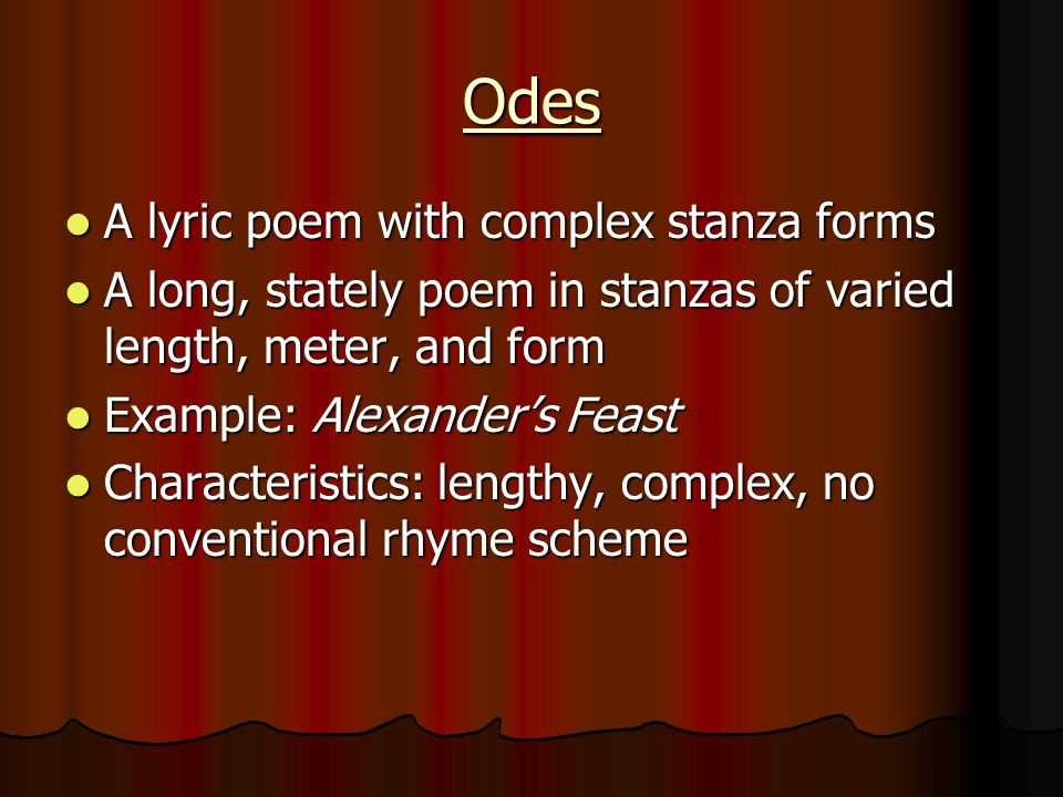Poetry Learning ballads, free verse, sonnets, haiku, odes, lyric ...