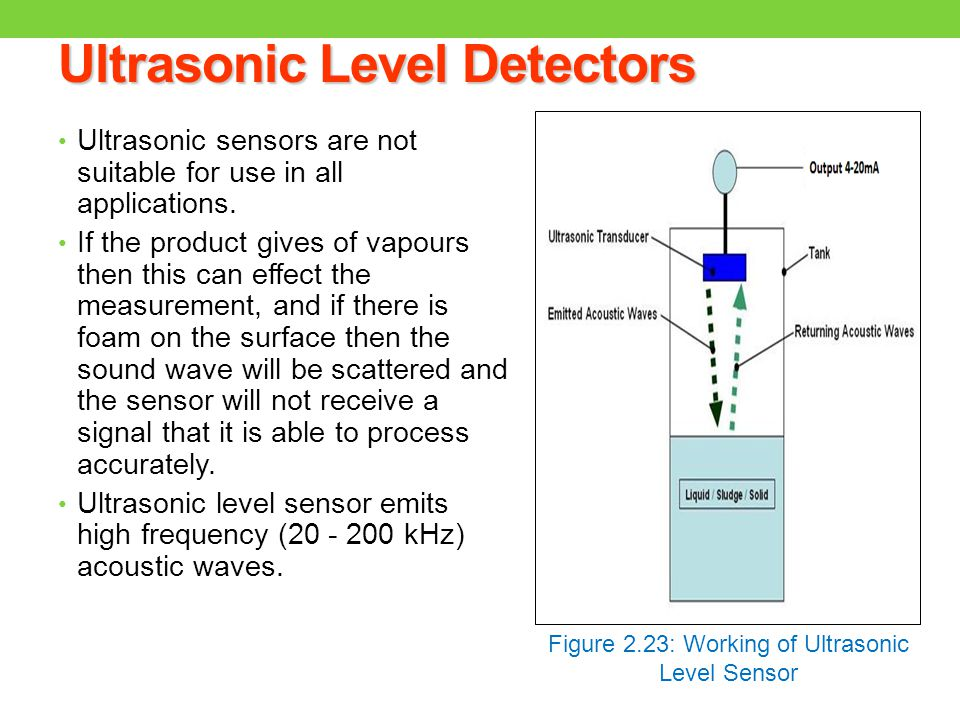 types of ultrasonic sensors pdf