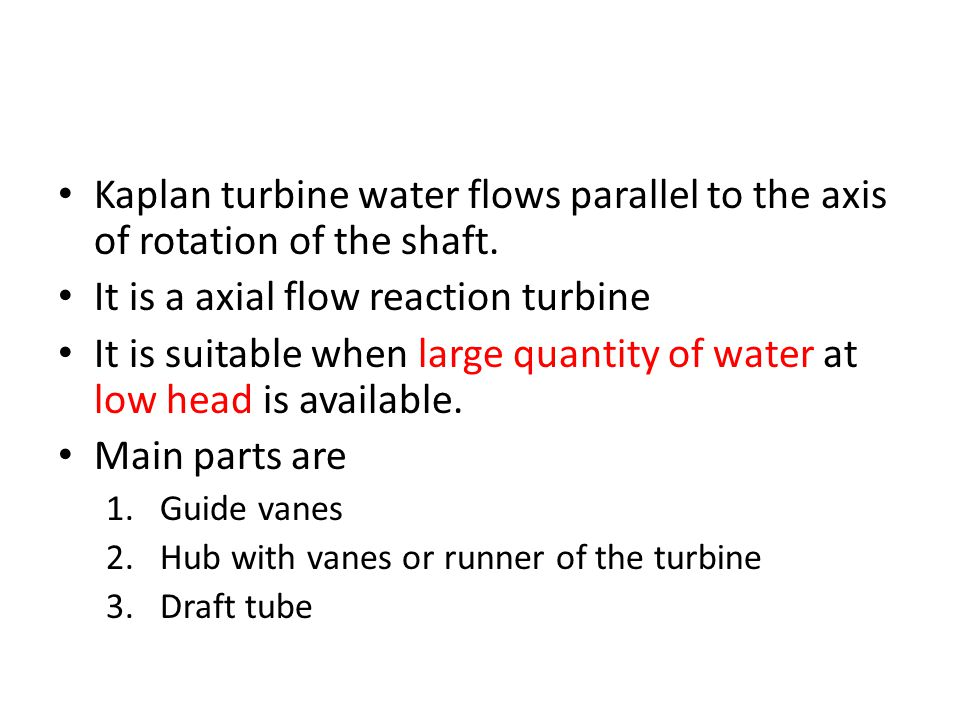 It is a axial flow reaction turbine
