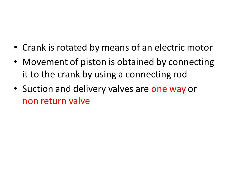 Crank is rotated by means of an electric motor